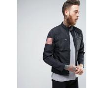 Denim & Supply Ralph Lauren Leichte Nylon-Bikerjacke in Schwarz Schwarz