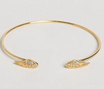 Offenes Armband mit Flügelverzierung Gold