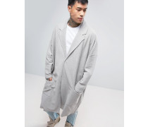 Extremer Oversize-Duster-Mantel aus Jersey in Grau Grau
