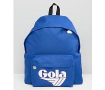 Exclusive Klassischer Rucksack in Blau und Weiß Blau