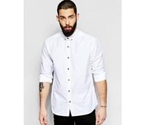 Oxford-Hemd, reguläre Passform Weiß