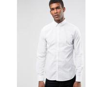 Hemd mit kleinen Kontrastpunkten Weiß