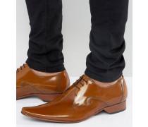 Schuhe mit Mittelnaht Bronze