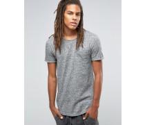 T-Shirt in Distressed-Optik mit Tasche Schwarz