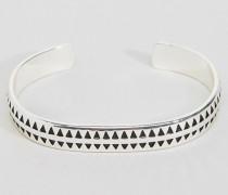 Hochwertiges Hahnentritt-Armband in Silber Silber