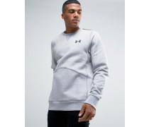 Graues Sweatshirt im College-Stil mit Rundhalsausschnitt, 1285085-025 Grau