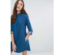 Maggie Chambray-Hemdkleid Blau