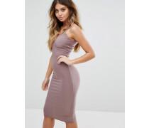 Figurbetontes Kleid mit doppelten Trägern Violett