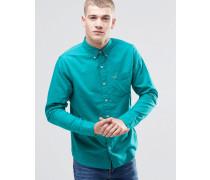 Schmales Oxford-Hemd in Grün Grün