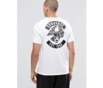 10001323-A02 Weißes T-Shirt mit Adler Weiß