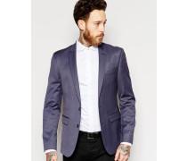 Wedding Schmale, blaue Anzugjacke Grau