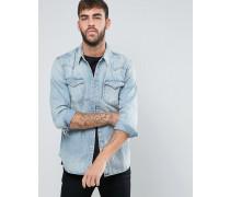 Levi's Barstow Western-Jeanshemd mit schmaler Passform Blau