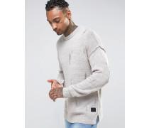 Pullover im Used-Look Grau