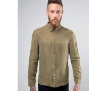 Elegantes Hemd aus Cupro Schwarz