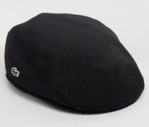 Flache Kappe in Schwarz Schwarz