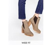 ESME Chelsea-Ankle Boots aus Wildleder mit weitem Schnittt Grau