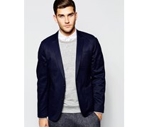 Schmale Jacke in Marineblau Marineblau