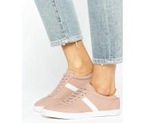 DELPHINE Sneaker mit Schnürung und Streifen Beige