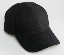 Baseball-Kappe aus Wolle Schwarz