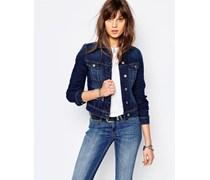 Rider Schmal geschnittene Jeansjacke Blau