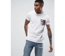 T-Shirt mit Brusttasche Weiß