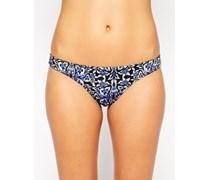 FULLER BUST Exklusive, brasilianische Bikinihose mit Barockmuster Mehrfarbig
