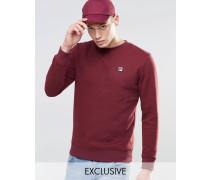 Fila Vintage-Sweatshirt mit kleinem Logo Rot