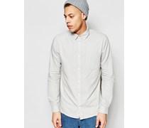 Bolt Regulär geschnittenes Oxford-Hemd in Dunkelweiß mit einer Tasche Weiß