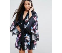 Ethereal Posey Kimono Schwarz