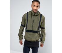 Jacke zum Überziehen mit Webdetail Grün