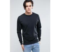 Schwarzes Sweatshirt mit Rundhalsausschnitt Schwarz