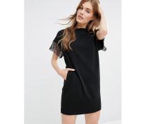 Miss Marple Hind Kleid mit Spitzenbesatz Schwarz