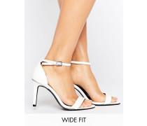 New Look Filigrane Sandaletten mit weiter Passform Weiß