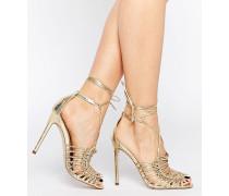 HUSHED Sandalen mit hohem Absatz Gold