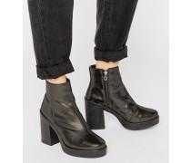 ECRU Schwere Ankle-Boots Silber