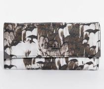Bedruckte Geldbörse mit Rundum-Reißverschluss Mehrfarbig
