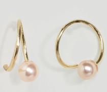 Filune Ohrringe zum Durchstecken Gold