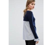 2-in-1-Pullover mit Trompetenärmeln Mehrfarbig