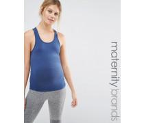 Mamalicious Loungewear Trägershirt mit Racerback Blau