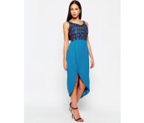 Diane Bardot-Kleid Blau
