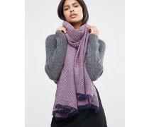 Oversized-Schal mit hellem Sparrenmuster Rosa