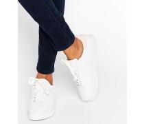 Sneaker mit Kontrastrückseite Weiß