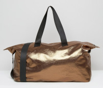 LIFESTYLE Lockere Reisetasche in Metallic Kupfer