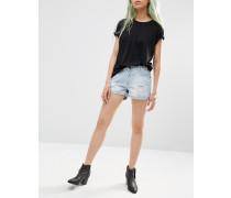 Shorts im auffälligen Used-Look Beige