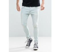 Enge Stretch-Jeans in blauer Waschung Blau