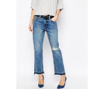 Ami Kurze Boyfriend-Jeans mit mittlerer Bundhöhe Blau