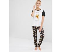 Pizza Love Schlafanzug-Set Mehrfarbig