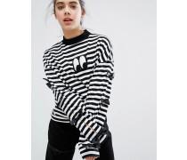 Lacy Oaf Langärmliges T-Shirt mit Fliege Mehrfarbig