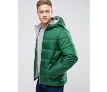 Wattierte Jacke mit Kapuze Grün