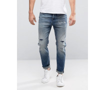 Hellblaue Jeans in Anti Fit Blau